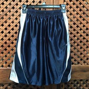 Nike boy's basketball shorts, navy & white- Size M